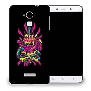 Snoogg Abstract Pink Monster Designer Protective Back Case Cover For COOLPAD NOTE 3