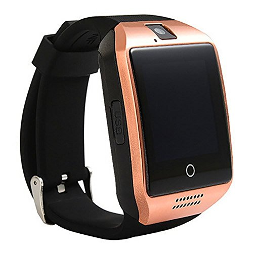 Meckwell Q18 Smart Watch Bluetooth with Camera TF/SIM Card Slot for Android and iPhone Compatible for Xiaomi Redmi Note 4 64GB - Golden