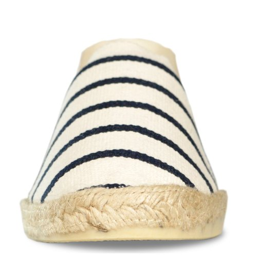 Espadrille homme rayée marin - bleu marinière - made in pays basque france Ecru Marine