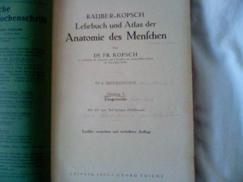 Lehrbuch und atlas der anatomie des menschen