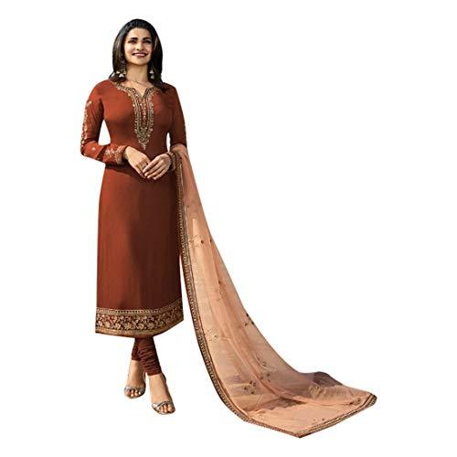 SHRI BALAJI SILK & COTTON SAREE EMPORIUM Seiden-Georgette-Churidar-Salwar-Anzug mit bedrucktem Dupatta für Damen-Indianer-Designerparty-Bekleidung 7701 Georgette Churidar