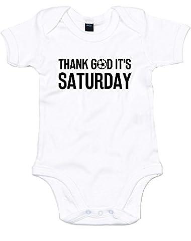 Thank God It's Saturday, Imprimé bébé grandir - Blanc/Noir 3-6 Mois