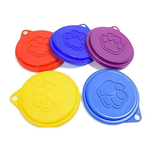 Newin Star 2pcs Reutilizable Pet Can Covers Tapa de Perro práctico Top Cap Durable Bolsas plástico Tin Color Aleatorio