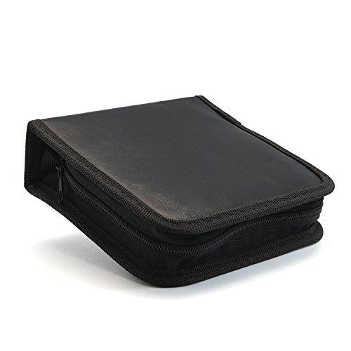 CD DVD Blu Ray Wallet Tasche schwarz für 40 CDs (Nette Cd-hüllen)