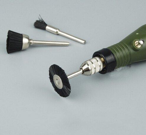 3 PCS Coupe de polissage Brown Soft Nylon Brosse Roues Polissage Pinceaux Outils rotatifs Accessoires Abrasifs