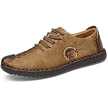 Hombres Casual Zapatos clásicos cómodos Mocasines Split Zapatos de Cuero Hombres Pisos
