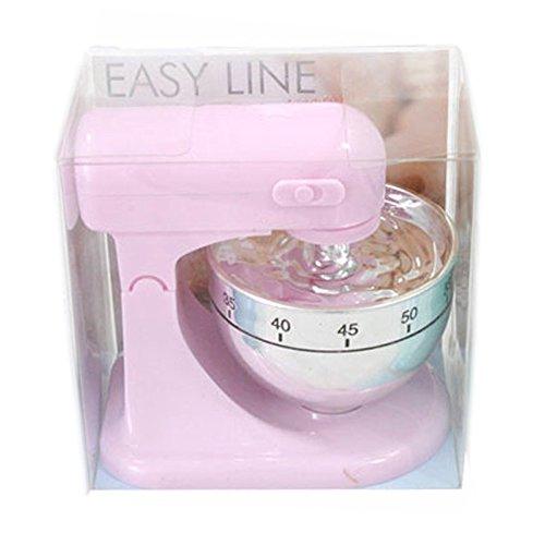 Eieruhr Kurzzeitwecker Küchentimer Küchenmaschine Mixer Design, Kunststoff, pastellrosa, 1 Stück