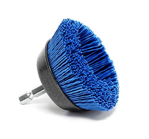 6.35 mm V/ástago hexagonal 1//4 S/&R Cepillo de Copa de Nylon 65 mm AGRESIVO para madera y metal