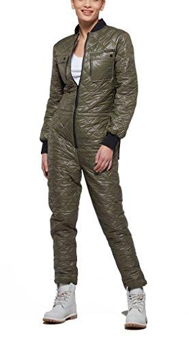 Onepiece Damen Jumpsuit Champ, Grün (Army), 38 (Herstellergröße: M) (Champs-grün)