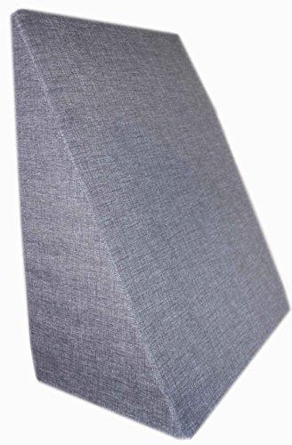 Rücken - Keilkissen - Lesekissen - Die Rückenstüze für das Bett oder Sofa versch. Farben Relaxkissen Beinkissen 60 x 50 x 30 cm (Grau)