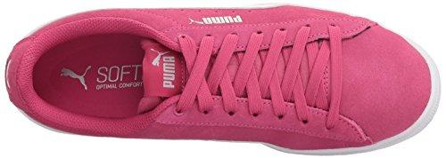 PUMA Unisex-Kids Vikky Jr Sneaker  Beetroot Purple White  7 M US Big Kid