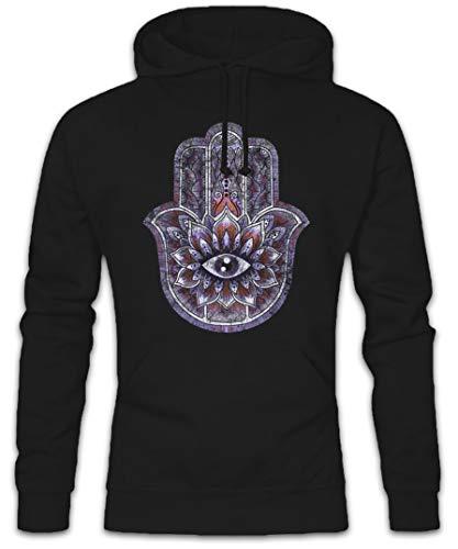 Urban Backwoods Hamsa Hoodie Kapuzenpullover Sweatshirt - Hand India Hand der Fatima Symbol Insigna Sign Zeichen Islam Muslim Northafrica Muslime Indien Größen S - 2XL
