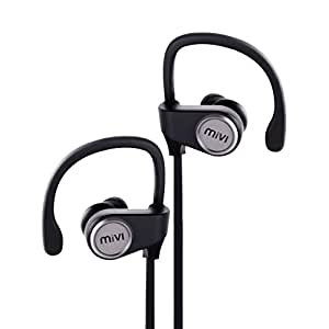Mivi Conquer Wireless Bluetooth Earphones with Stereo Sound and Hands-free Mic (Gun Metal)