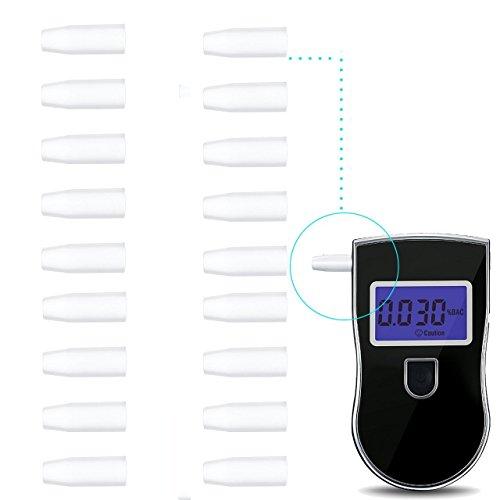 Xgeek alcoholímetro 20 x Alcoholemia desechables Boquillas para Policía Alcoholímetro Digital Alcohol Breath Tester