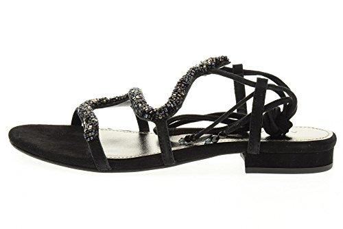 Apepazza Sandales Basses Pour Femmes Ctr04 / Suede Cambrie Nero Noir