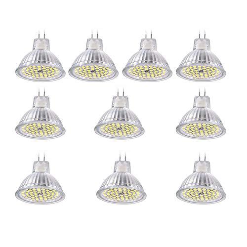 Urijk LED Strahler mit SMD 2835 Chips MR16 GU5.3 LED Spotlight mit 60 LED AC/DC 12V Glühbirnen Warmweiß Track Beleuchtung Deckenstrahler Indoor Glühbirnen -