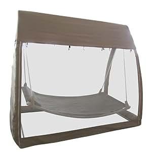 Hamac couvert avec moustiquaire - Gris