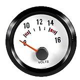 E Support™ 2' 52mm Auto KFZ Voltmeter Universal LED Anzeige Batteriespannung Auto Instrument
