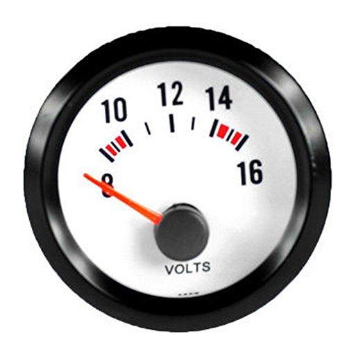 "E Support™ 2"" 52mm Auto KFZ Voltmeter Universal LED Anzeige Batteriespannung Auto Instrument"