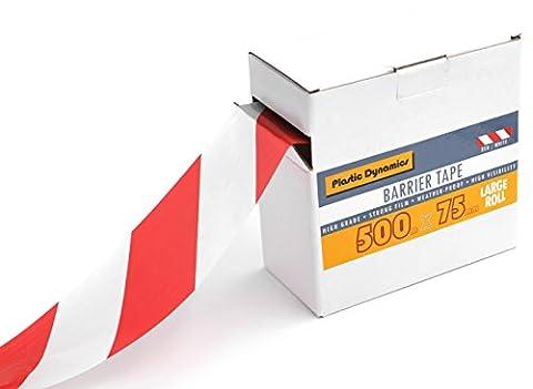 Plastic Dynamics® Ruban de balisage 75mm x 500m