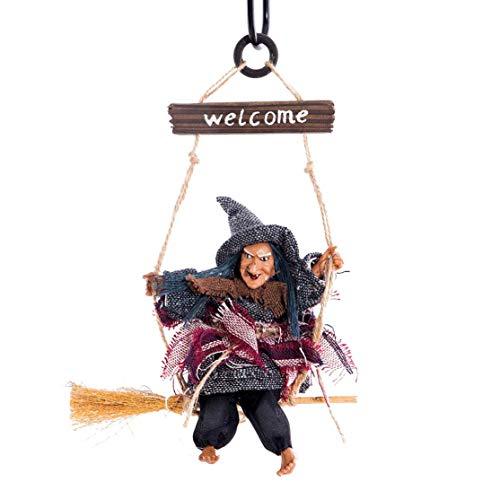 LouiseEvel215 Halloween Flying Broom Hexe Hexe Anhänger liefert Ghost Festival Bar Dekoration Horror Realistische Horror
