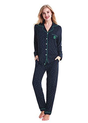 Damen Schlafanzüge Nachtwäsche langen Ärmeln Pyjama by Nora Twips, Farbe Stern Gr. XL
