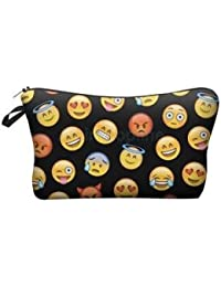 Alcoa Prime New Fashion Travel Cosmetic Toiletry Bag Makeup Storage Pouch Case Emoji - B0745FQCCC