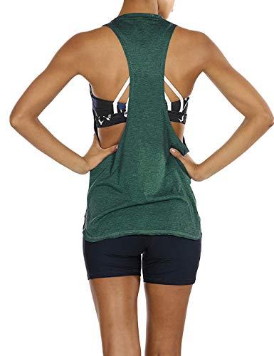 Aibrou Camiseta Mujer Deporte Sin Mangas Verano algodón para Yoga Fitness y Deportes