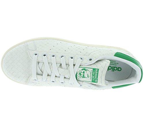 Adidas, Donna, Stan Smith W White Green, Pelle, Sneakers, Bianco blanco