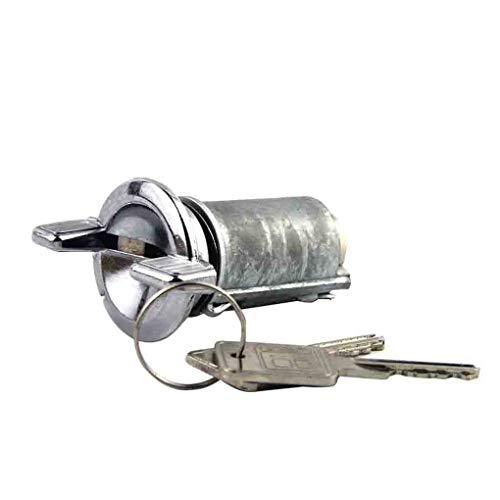 plzlm Chrome Motor Zündschlüssel Zylinderschloss + 2 Schlüssel Montage Ersatz für Chevy Buick GMC LC1426 - Chevy Teile Motor