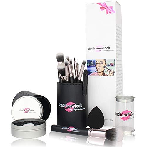 Brochas Maquillaje Profesional 10 piezas Sandranewlook