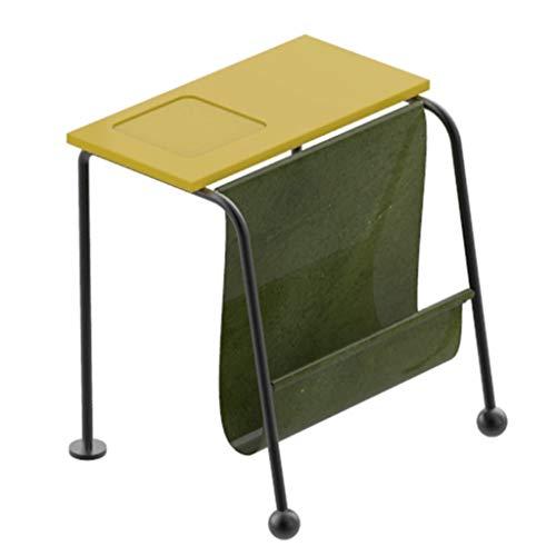 Porte-revues Table De Chevet Table d'angle De Côté Table Basse Table De Téléphone Table D'appoint Table De Chevet Salon (Color : Yellow, Size : 46 * 43.2 * 50cm)