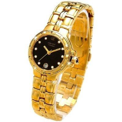 Oskar Emil Casablanca 300L - Reloj Diamante Oro Mujeres, Con Esfera Negra