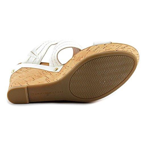 Tommy Hilfiger Mili2 Damen Kunstleder Keilabsätze Sandale White