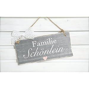 Türschild für den Eingang aus Holz mit Namen / Hochzeitsgeschenk / Gastgeschenk