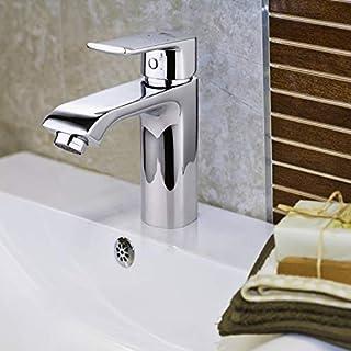 Amzdeal Waschtischarmatur Waschbecken Armatur Bad Wasserhahn, Einhebel Waschtisch Armatur Mischbatterie Badezimmer Wasserhahn
