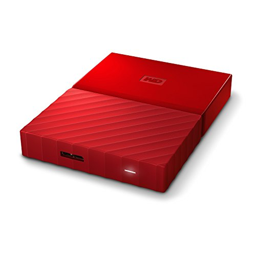 WD My Passport 1TB   Disco Duro portátil y Software de Copia de Seguridad automática para PC  Xbox One y Playstation 4   Rojo