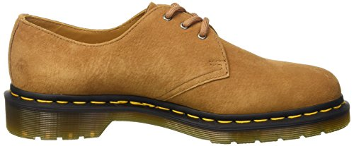 Dr. Martens 1461 Soft Buck, Scarpe Stringate Basse Brogue Unisex-Adulto Tan