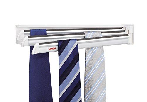 Leifheit Snoby - Soporte de corbatas, color blanco