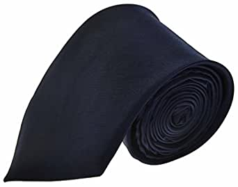 NEW PLAIN COLOURED MENS TIES. 21 COLOURS AVAILABLE. HANDMADE. WEDDING, FASHION (NAVY, TIE)