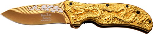 Dark Side Blades Taschenmesser Gold Dragon II, - Flammen Der Drache Mit Liebe