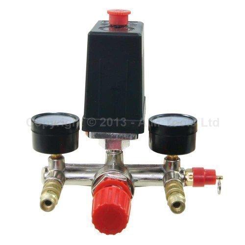Regolatore pressione con interruttori e calibri valvole per compressore SP24111008