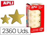 Apli 946023 - Rollo gomets estrella, color dorado