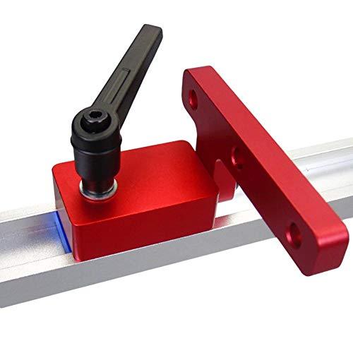 libelyef Mitre Track Stop Für T-Nut DIY Werkzeug zur Holzverarbeitung, Modell 30 Holzbearbeitungsrutsche Dedizierter Limiter Standard zur manuellen Verwendung (Diy-modell)