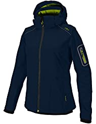 Softshell Outdoor Jacke CMP für Damen mit Fleece-Innenausstattung und Kapuze, in vielen Farben erhältlich. Wasserabweisend mit Windstopper. Für Schule, Wandern und Freizeit. Sondermodell Franceska