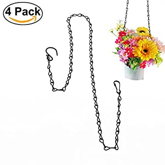 UEETEK 4pcs Hanging Chain for Bird Feeders Planters Lanterns Flower Basket 35-inch 9