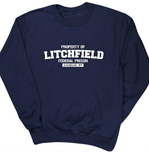 hippowarehouse-propiedad-de-litchfield-prision-federal-unisex-jersey-sudadera-jersey-azul-azul-marin
