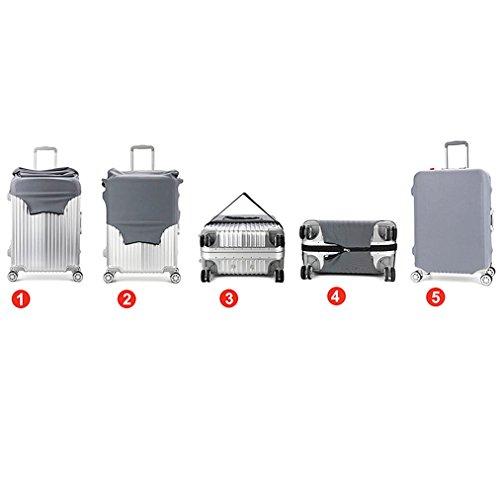 Wasserfeste Print Trolley Case Schutzhülle für 30/31/32 Gepäckhülle waschbar Reise Suitcase Protector XL Giraffe