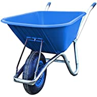 Carrimore Stable Wheelbarrow, Blue, 120 Liter