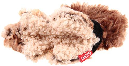GiGwi 6259 Robustes Hundespielzeug Plush Friendz Streifenhörnchen ohne Füllung, mit doppelter Gewebelage und Quietscher, aus Plüsch - 4